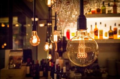 hanging lightbulb fixtures   Energy Saving Tips for Restaurants   SLM Facilities