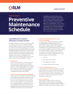 Facilities Preventive Maintenance Schedule